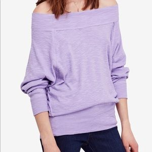Free People palisades off the shoulder knit top